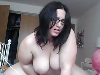 SOLO ACT WITH A HOT HAIRY PUSSY BBW AND HER TOY