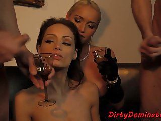 DP banged slave serves her dom mistress