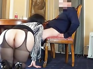 Bbw in stockings  anal