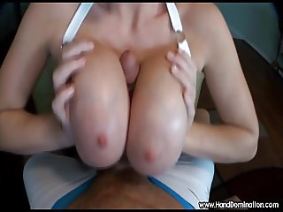 she titty fucks large white penis