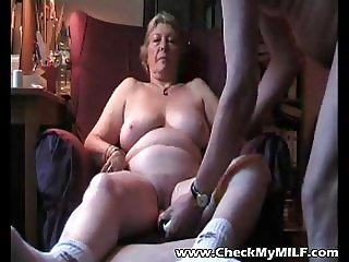 Check My MILF Mature amateur wife playing with pussy