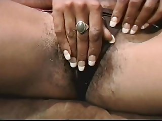 Retro Hairy Ebony Masterbate 2