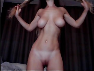 Topmodel on cam with big natural tits