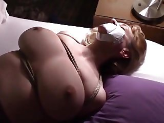 white wife big tits tied and made to cum