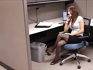 candid heels dangling office friend stole her heels