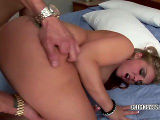Nikki James takes a cock in her hot little twat