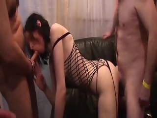 two chicks at her first fuck party