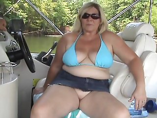 Blonde Cheating Granny on Boat