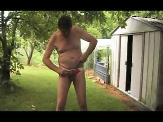 straight transvestite sounding urethral outdoors garden fetish 63