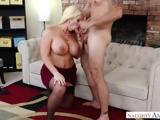 Hot Step Mom Alura Jenson play with me