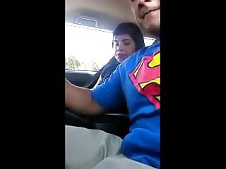 Caught giving BJ in car