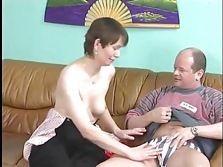 Hairy Mature With Nice Tits Gets A Facial