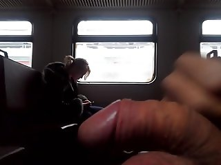 flashing dick in train