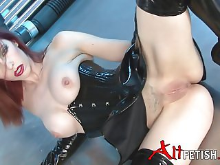 Emily Marilyn Black Latex corset