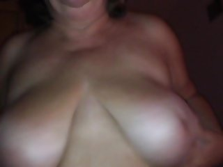 Busty Wife riding me