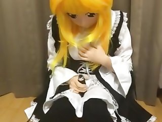 kigurumi maid vibrating