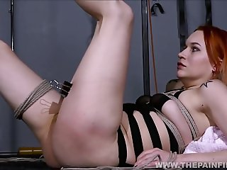 Dirty Marys lesbian bondage and electro bdsm of redhead slav