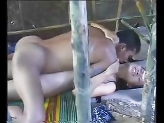 Real young girl fucked on a veranda in public