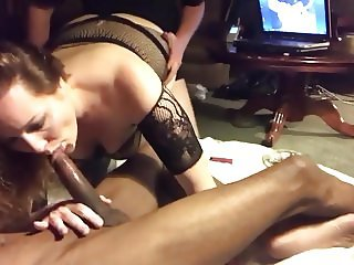 Wife Blows BBC As Hubby Fucks Her