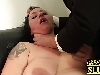Nasty bitch is willing to be humiliated and fucked rough