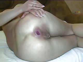 Wife prepares the ass