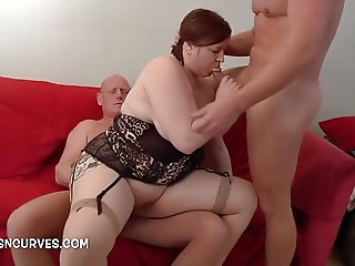 Two hung studs fucking a young British girl