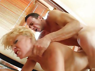 MILF hot mature lady Sylvia Laurent gets a nice cock fuck