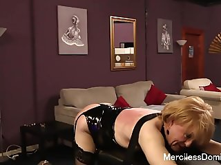 The Spanking Of SallyAnne - Dark Faye Spanked Sissy Slave