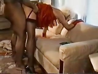 Unfaithful mature in dress and stockings