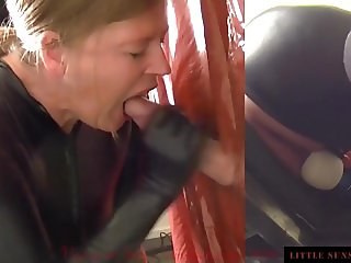 Simultaneously Orgasm at Glory Hole with Cum in Mouth 3 Cams