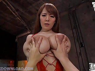 Busty asian with giant monster natural big tits
