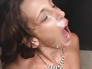 Randi Storm Group Blowjob Bukkake