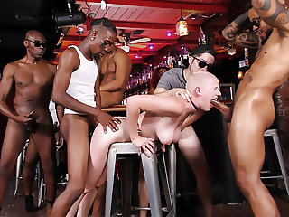 Riley Nixon Gangbanged In The Local Bar - Cuckold Sessions
