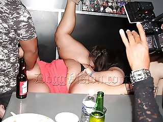 Squirting in a Night Club Lounge