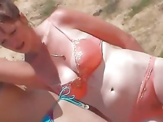 Beach - transparent panties
