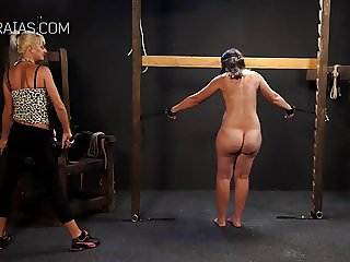 Femdom riding crop for poor girl