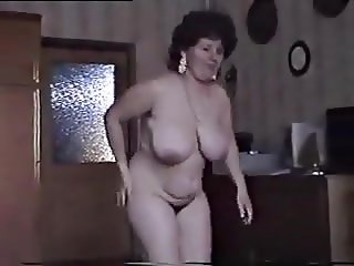 Mature Wife Strips And Shows Juicy Pussy