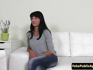Casting euro babe pussyrubs at interview