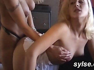 MILF and TEEN with dildos and strapon