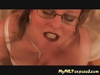 My MILF Exposed Sexy MILF in stockings and lingerie pussy