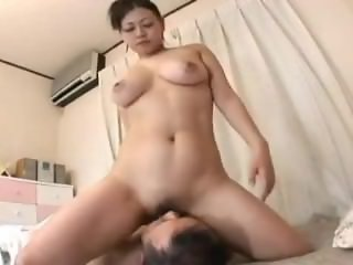 Naked Asian Wife Facesits