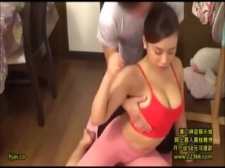Yoga Instructor Seduced by Busty Asian Wife