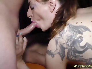 her first extreme anal gangbang