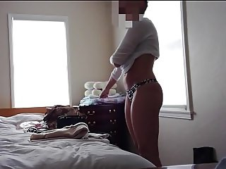 Wife changing, bedroom hidden cam 2