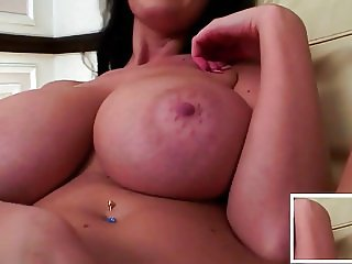 Young thin girl with huge luscious boobs!