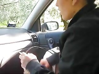 Italian amateur car sex fun