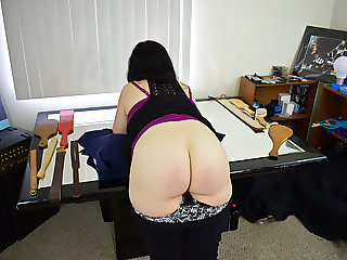 Strapped on Her Ass and Thighs! - (Spanking)