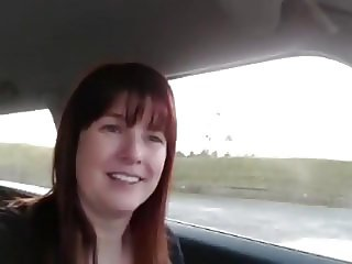 Milf in Stockings Hot Car Action