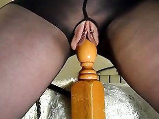 She loves riding the bedpost and squirting