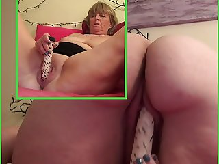 Granny is horny playing with vibes